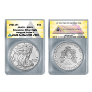 2021 (P) American Silver Eagle MS69 - Emergency ASE Production