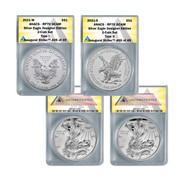 2021 Reverse Proof American Silver Eagle Two-Coin Set Designer Edition PR70