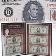 Five Historic 5 Dollar Bank Notes - 1928 to 1963