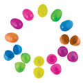 Plastic Easter Eggs Neon Color 2.25