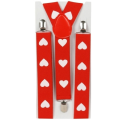 Valentines Day Outfit Red Heart Suspenders Child/Adult Size