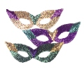 Sequin Cat Eye Mardi Gras Masks