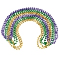 Mardi Gras Party Beads Wholesale | 12 PACK | 8mm Mixed