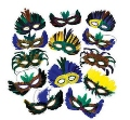 Mardi Gras Feather Assortment Masks | 12 PACK 9227ASST
