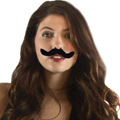 Realistic Fake Mustaches | Stick on Mustaches | 12PK 1693