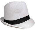 White Fedora Gangster Cuban Tweed 12 PACK 1314