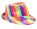 Bulk Rainbow Hats | Rainbow Fedoras | 18006