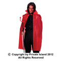 "Red Costume Cape 45"" 4521"