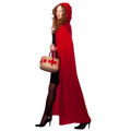 Red Long Velvet Hooded Cloak 4545