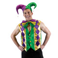 Mardi Gras Multicolor Vest 4488