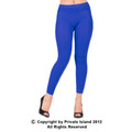 Royal Blue Footless Leggings Tights  8094