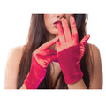 Red Short Satin Gloves 1203