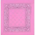 Light Pink Paisley Bandanna 12 PACK 1914DZ