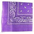 """Purple Paisley Bandanna 22"""" Square Standard 100% Cotton 12 PACK 1918DZ"""