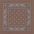 "Brown Paisley Bandanna 22"" Square Standard 100% Cotton 12 PACK 1924DZ"