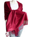 Burgundy Pashmina Shawl 100% Fine Wool Mix 12 PACK 2102