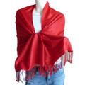 Red Pashmina Shawl 12 PACK 100% Fine Wool Mix  2111