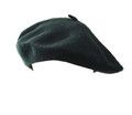 """Forest Green Wool Beret 22.5"""" Standard Adult Size 1365"""