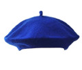 Royal Blue Beret Wool 1371