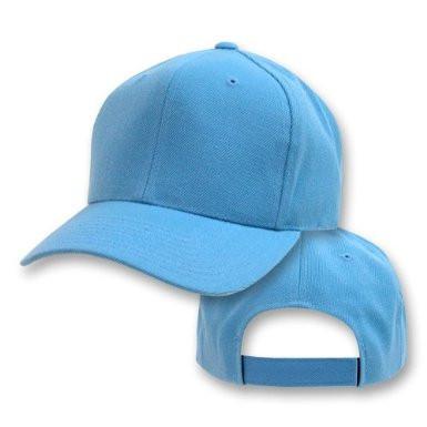 94fb0d6cfc6a5a Sky Blue Adjustable Baseball Dad Cap 1390. -. Image 1