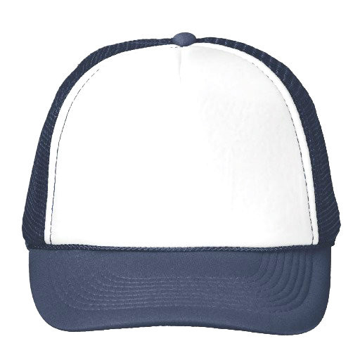 Mesh Trucker Cap Navy Blue And White 1453 - Private Island Party f469504cb11