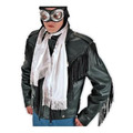 White Satin Aviator Scarf 2050