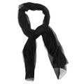 "Black Long Sheer Chiffon Scarf  21"" x 60""  2129"