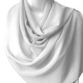 White Long Sheer Elegant Chiffon Scarf Wrap 2135