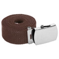 "Brown Canvas Adjustable Belt Adjusts to 44-46"" Size 2211"