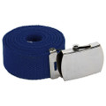"Canvas Belt Navy Blue Adjustable Adjusts to 44-46"" Size 2216"