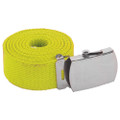 "Neon Yellow Belt Canvas Adjustable -Adjusts to 44-46"" Size 2225"