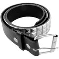 Silver Studded Black Punk Belt 12 PACK 2500-2503