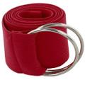Stretch D-Ring Belt Burgundy 2685