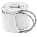 White Stretch D-Ring Belt 2696