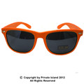 Orange Sunglasses |  Iconic 80's Style |  Adult Size 1053