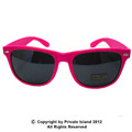 Hot Pink Sunglasses Wayfarer Pink Adult Size 1054