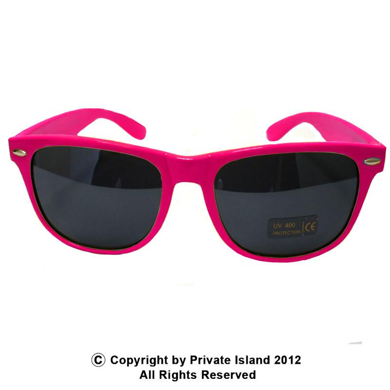 ea0aaabf90 Hot Pink Sunglasses Wayfarer Pink Adult Size 1054. -. Image 1