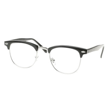 4523091e923 Clubmaster Glasses Clear Lens Vintage Adult Style Black 1070 ...