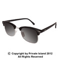 Black Half Frame Sunglasses |  Adult Vintage Style Black/Black Lens 1072 12 PACK