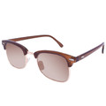 Brown Half Frame Sunglasses Vintage Adult Size Brown/Brown Lens 1073