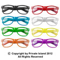 12 PACK Wayfarer Style Clear Lens Sunglasses Adult Size Mixed Colors 1080