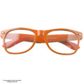 Clear Lens Orange Sunglasses Iconic 80's Style Adult Size Sunglasses 1084