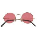 Pink Hippie Girl Glasses Costume 1092