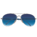 Silver Frame and Blue Lens Aviator Sunglasses 1103