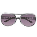 Silver Elvis Sunglasses | Black Lens 1136