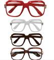 Rapper Style Clear Lens Glasses Mix Colors 12PK 1145A