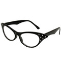 Cat eye glasses - black