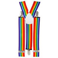 Rainbow Suspenders Elastic Clip On 1290