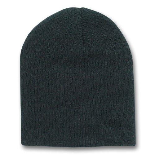 b94a0cb58 Short Beanie Hat Black 5731