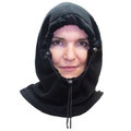 Black Polar Fleece Hat    Adjustable Balaclava   3063